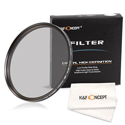 62mm CPL Filtro - K&F Concept Filtro Polarizador Circular Filtro con Multi Capa para Sony Alpha A57 A77 A65 18-250mm 18-135mm Lentes + Paño de Limpieza para la Lente