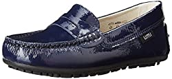 umi Morie B Penny Uniform Loafer (Toddler/Little Kid),Navy Patent,26 EU(9 M US Toddler)