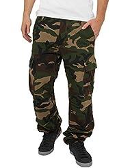 Urban classics pantalon cargo camouflage camo pour bois