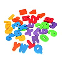 Saihua Bath Letters Numbers Foam Alphabet, 36Pcs Baby Bath Toys with Bath Toy Storage Net Organizer A-Z Letters and 0-9 Numbers Foam Floating Bath Tub Stickers Toddler Child Toys