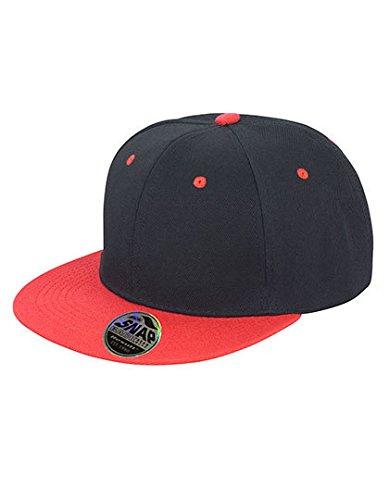 Ergebnis RC82X Bronx Snap Back Cap Einheitsgröße schwarz/rot