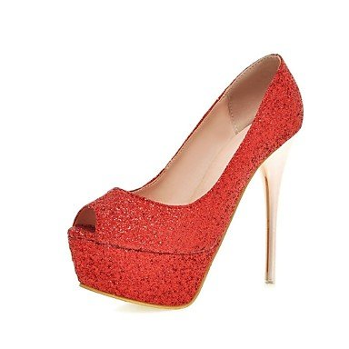Zormey Frauen Schuhe Glitzer/Stiletto Heels/Peep Toe/Plattform/Open Toe Hochzeit Schuhe/Party & Amp Abends/Kleid Rosa US6 / EU36 / UK4 / CN36