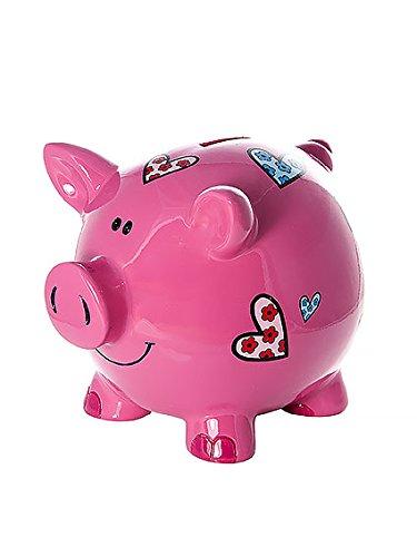 Las niñas grandes huchas infantiles niños bebé adulto cerdito piggy bank rosa con corazones