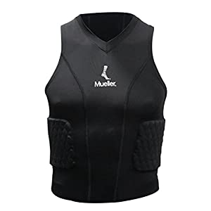 Mueller 6090-4 Diamond gepolstertes Shirt, schwarz, XL