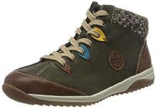 Rieker L5222-24, Sneaker a Collo Alto Donna, Verde (Brandy/Forest/Azzuro/Senf/Terra 24), 39 EU