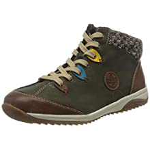 Rieker L5222-24, Sneaker a Collo Alto Donna, Verde (Brandy/Forest/Azzuro/Senf/Terra 24), 40 EU