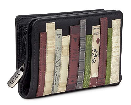 Yoshi ,  Damen-Geldbörse Schwarz Schwarz 13.5 x 8.5 x 2cm