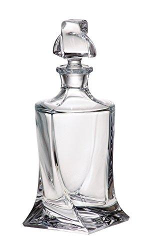 Glasflasche, Dekanter, Karaffe, für Whisky und Spirituosen, Böhmen, Kollektion