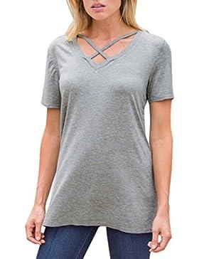 FAMILIZO Camisetas Mujer Manga Corta Camisetas Casual Mujer Verano Camisetas Mujer Tallas Grandes Camisetas Mujer...