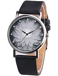 LD Mujer Reloj Estudiantes Reloj Reloj DE Pulsera Cuarzo Reloj analógico Reloj patrón de Loto bisutería