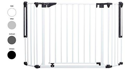 Original IMPAG® Treppen und Tür-Schutzgitter Discovery   80-125 cm   Automatik-Tür   90° Feststell-Funktion   Einhandbedienung   Öffnet in beide Richtungen  