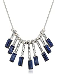 Vk Jewels Wedding Collection Silver Brass Alloy Necklace Set For Women Vknks1298R