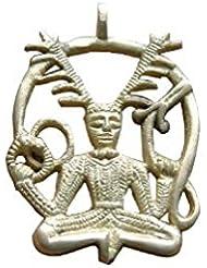 Contera para Cinturón con Inscripciones de Jesucristo, Hebilla en bronce para cinturón, Decoraciones Vikings para cinturón, Recreación histórica