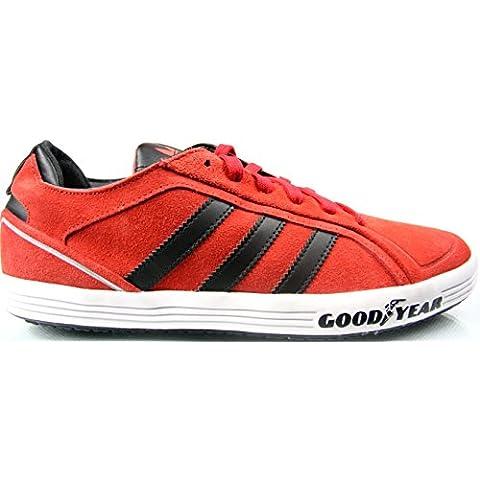 adidas Goodyear Driver Vulc - Zapatillas de Material Sintético para hombre Rojo Rot / Weiß /