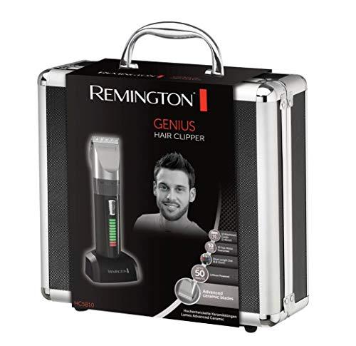 Remington Genius HC5810 -  Máquina de Cortar Pelo,  Cuchillas de Cerámica,  Recargable,  10 Peines,  Prestaciones Profesionales,  Color Negro