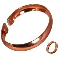 Unisex Einfarbig Bandartiger Magnetischer Kupfer Armband und Schlicht Magnet Kupfer Ring Kombi Set - Kleine Ringgröße... preisvergleich bei billige-tabletten.eu