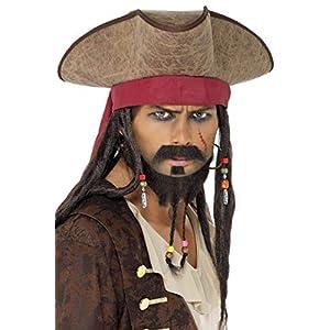 SMIFFYS Cappello da pirata, marrone con treccine 4 spesavip