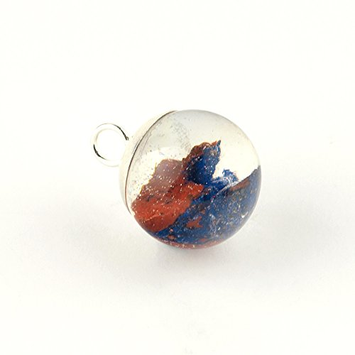 sphere-shaped-pendant-with-rough-mineral-azurite-embedded-in-resin-epoxy-and-finished-with-sterling-