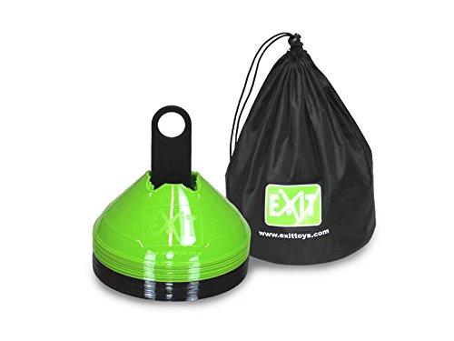 Preisvergleich Produktbild EXIT Markierkegel / Set mit 20 Stk., in einer Tragetasche 45.85.20.00 / Durchmesser: 20 cm / Höhe: ca. 8 cm / Farbe: schwarz + grün / Gewicht:
