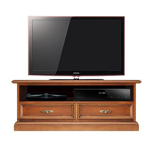 Mobile porta tv con dettagli e con vano per soundbar