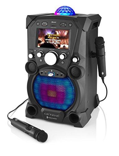 Singing Machine sdl9035bk Carnaval con integrado 17,8cm (7pulgadas) de...