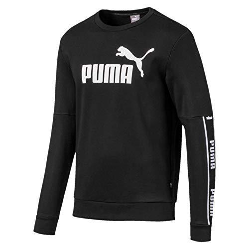 PUMA Herren Amplified Crew FL Pullover, Black, M