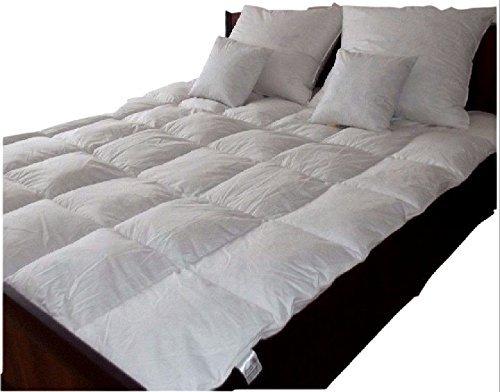 135x200 cm warme Premium Winter Bettdecke Steppdecke Daunen und Federn Down und Feathers Douvet fedrige Daunen mit TASCHE Aufbewahrungstasche (1100)