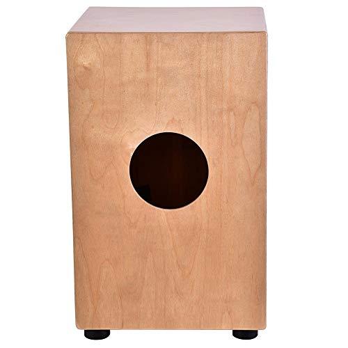 GECKO Box Cajon aus Holz, Handtrommel aus Holz für Kinder, Prinzip und Experten, Schlagzeug mit 4 Gummifüßen