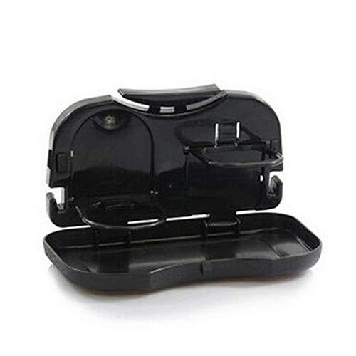 HJW Tischwagenhalter für Autos, Klappbarer Autotisch, Multifunktionsständer, schwarz, 15 * 25 cm