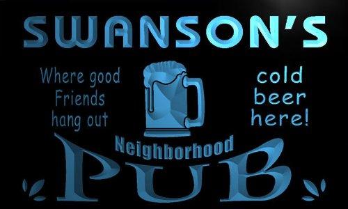 enseigne-lumineuse-pg1383-b-swansons-neighborhood-home-bar-pub-beer-neon-light-sign