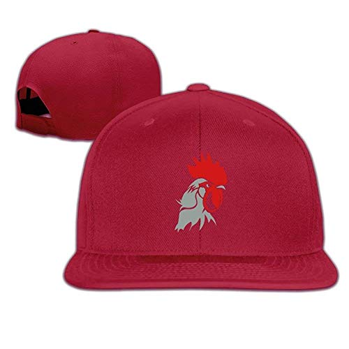 Chicken Head Kostüm - Kenice Chicken Rooster Head Washed Unisex Adjustable Flat Bill Visor Baseball Hat