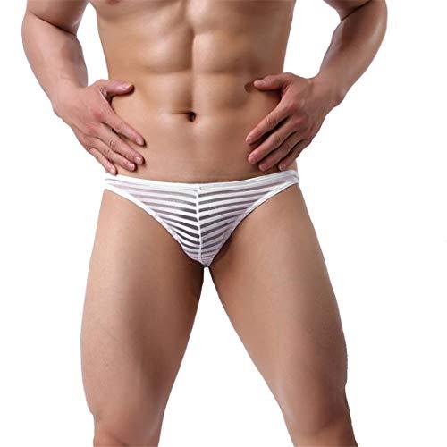 BBOKKUES Transparente Slips Herren Sommer Bikini Bademode Herren Low Waist Bikini Slips Silk Ice Unterwäsche B XL -