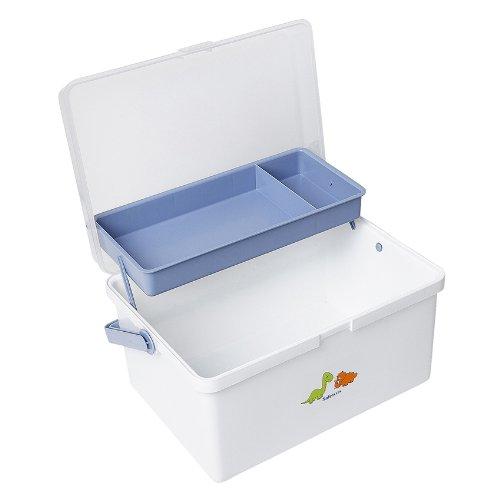 Safetots Dinosaur Baby Box Organiser White Blue Test
