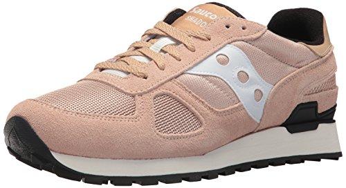 Saucony Originals 1044_Lowtop, Sneakers Basses Femme - Marron - Tan/White/Pink, 39 EU