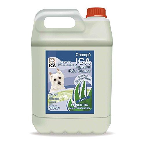 ICA CHPG21 Champú Especial Pelo Blanco con Aloe Vera para Perros