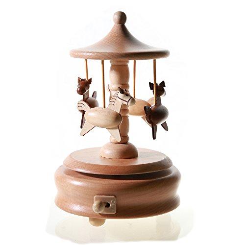 Doolland Holz-Musik-Geschenk-Box Figuren Stil personalisiertes Holz Basteln für Mädchen Kinder Geburtstag Weihnachten Jahrestag Valentinstag Holz Geschenk - Carousel (Carousel Weihnachts-musical)