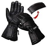 HAND Fellow - Guanti da moto in pelle di alta qualità, impermeabili, con fodera termica, adatti per...