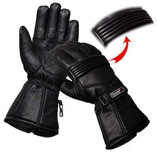 Hand Fellow Guantes de piel para motocicleta