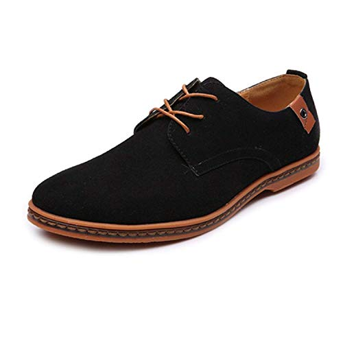 2d93d70a11 Men's Classic Microfibre Leather Oxford Shoes Lace up(black45)
