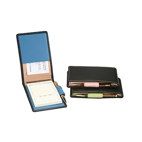 royce-leather-deluxe-flip-style-note-jotter-black-carnation-pink