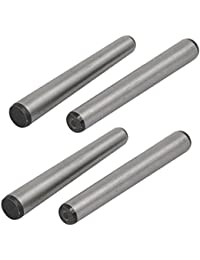 Tradico® Carbon Steel GB117 110mm Length 12mm Small End Diameter Taper Pin 4pcs