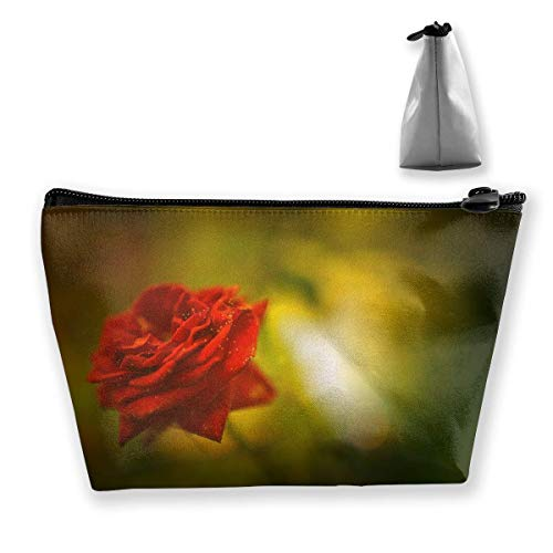 Travel Cosmetic Bags Red Rose Small Makeup Bag Multifunction Pouch Cosmetic Handbag Toiletries Organizer Bag for Women Girl Lsu Laser