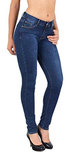by-tex Damen Röhrenjeans Skinny Jeans Destroyed Jeanshose bis Übergröße 46, 48, 50, J312