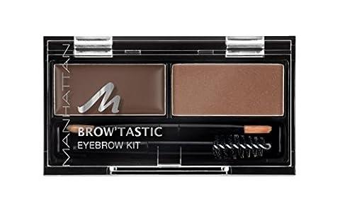 Manhattan Brow'Tastic Eyebrow Kit 2 Brow-Nie, Augenbrauen-Puder und Wachs, 2er
