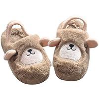 BESTOYARD Zapatillas de Invierno Suaves y Lindas, Antideslizantes, Zapatos de Invierno para niños pequeños (marrón)