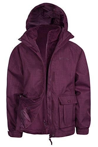 Mountain Warehouse Polly 3 in 1 – Jacke für Jugendliche Beerenton 140 (9-10 Jahre)