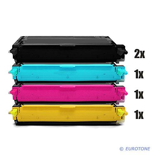 Eurotone Toner Cartridges für Dell 3110/3115 C CN ersetzten 2X Black, 1x Cyan, 1x Yellow, 1x Magenta Patronen im 5er Spar Set - kompatible Premium Kit Alternative - Non OEM -