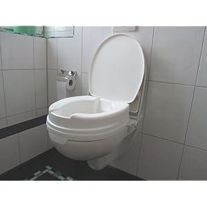 Toilettensitzerhöher 10 cm mit Deckel Relaxon Basic – Toilettensitz Toilettensitzerhöhung Wcstuhl