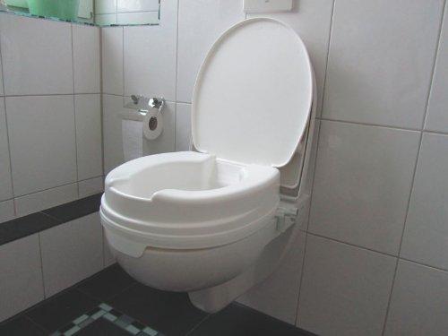 Toilettensitzerhöher 10 cm mit Deckel Relaxon Basic - Toilettensitz Toilettensitzerhöhung Wcstuhl