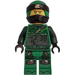 LEGO–Despertador Luminoso Figura Lloyd Ninjago 9009198para niños, Plastic, Negro, 24cm